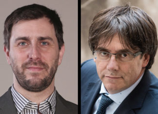 Toni Comín y Carles Puigdemont